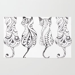 Trio of Cats Rug