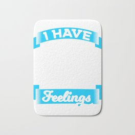 "A Drinking Tee For Bartenders ""I Have Mixed Drinks About Feelings""  T-shirt Design Pub Alcohol Bath Mat"