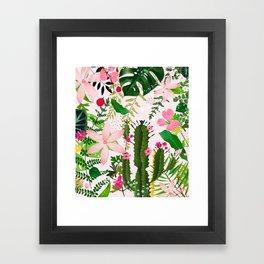 pink desert flowers Framed Art Print