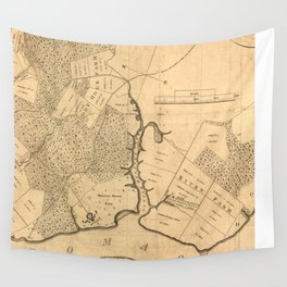 Vintage Map of The Mount Vernon Plantation (1801) Wall Tapestry