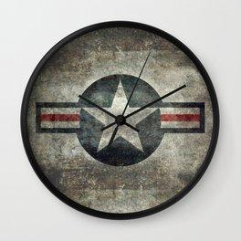 US Air force style insignia V2 Wall Clock