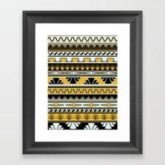 art deco stripes - honey Framed Art Print