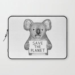 Koala save the planet Laptop Sleeve