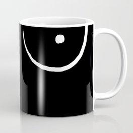 black and white boobs Coffee Mug