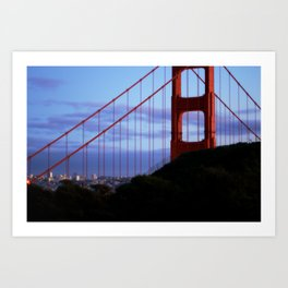 Golden Gate Bridge Looming Art Print