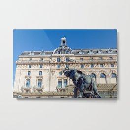 Elephant statue outside museum d'Orsay in Paris Metal Print