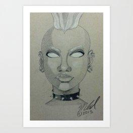 Punk Storm Art Print