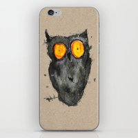 scary iPhone & iPod Skins featuring Scary owl by Bwiselizzy