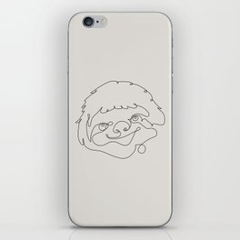One Line Sloth iPhone Skin