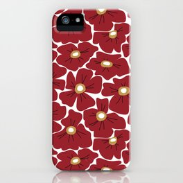 Modern Red Poppies iPhone Case