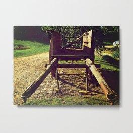 Country Wheels Metal Print