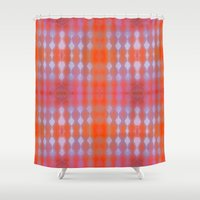 wallpaper Shower Curtains featuring Wallpaper by Kaos and Kookies