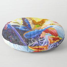 Shiva and Shakti Floor Pillow
