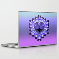 shield Laptop & iPad Skins featuring Purple Shield by Awesome Palette