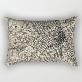 Vintage Map of Nashville Tennessee (1929) Rectangular Pillow