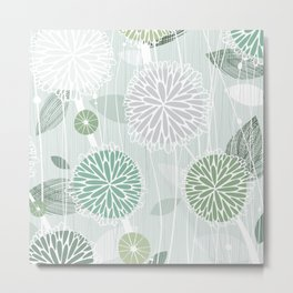 Abstract Floral by Friztin Metal Print
