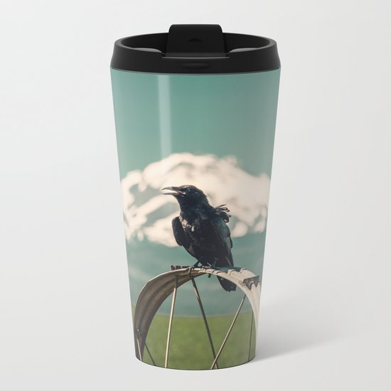Mt. Jefferson Raven Metal Travel Mug