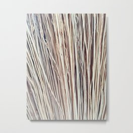 Beige Brushwood Photography Metal Print