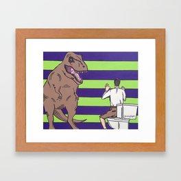 """Jurassic Park """"Died on the Shitter"""" Framed Art Print"""