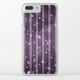 Ultra Violet Purple Stripes Polka Dots Clear iPhone Case