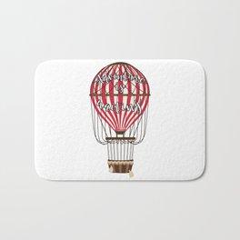 Retro Vintage Balloonist Hot Air Balloon Optimism Optimist Bath Mat