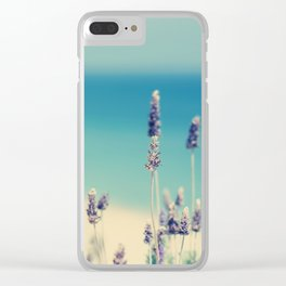 beach - lavender blues Clear iPhone Case