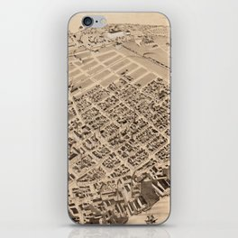 Vintage Pictorial Map of East Cambridge MA (1879) iPhone Skin