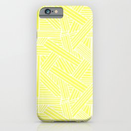 Sketchy Abstract (White & Light Yellow Pattern) iPhone Case