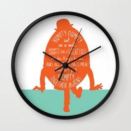 Humpty Dumpty - Nursery Rhyme Inspired Art Print Wall Clock