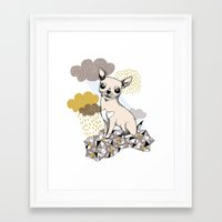 chihuahua Framed Art Prints featuring Chihuahua by Camille Roy