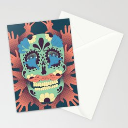 Skull and Hands Stationery Cards