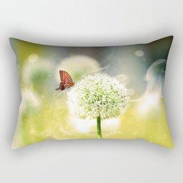 Allium fantasy flowers with butterfly Rectangular Pillow