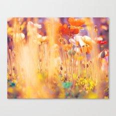 I am Alice. poppy flowers photograph Canvas Print