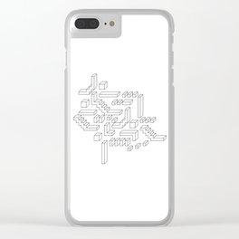 Geometric print design - Geo Cubes Clear iPhone Case