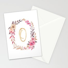 Letter O Monogramed Mug Stationery Cards
