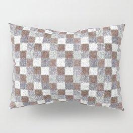 Rustic Brown Gray Beige Patchwork Pillow Sham