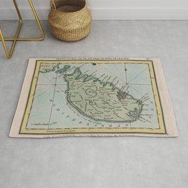 Vintage Map of Malta (1800) Rug
