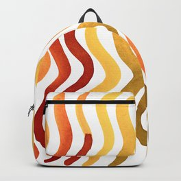 Wavy lines - autumn palette Backpack