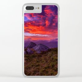 Thanksgiving Nature Clear iPhone Case