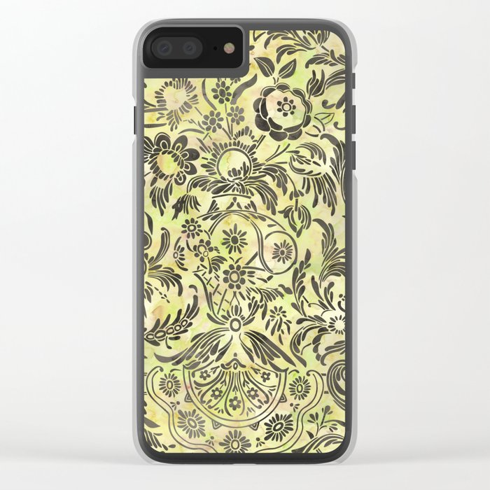 Watercolor Damask Pattern 03 Clear iPhone Case