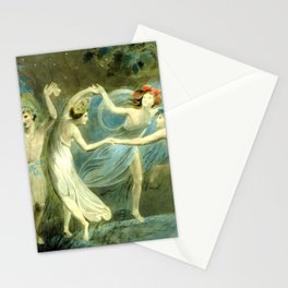 """William Blake """"Oberon, Titania and Puck with Fairies Dancing"""" Stationery Cards"""