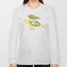 The Girl and the Turtle Long Sleeve T-shirt