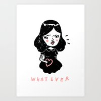 whatever Art Prints featuring Whatever by Mel Stringer