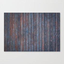 Vintage Wood background - photo wallpaper blue Canvas Print