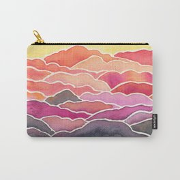 Above the Clouds Watercolor Painting Carry-All Pouch