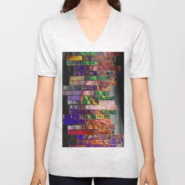 wall of bricks Unisex V-Neck