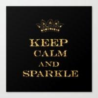keep calm Canvas Prints featuring Keep calm by UtArt