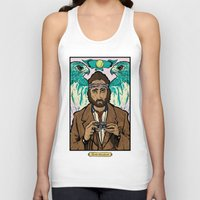 the royal tenenbaums Tank Tops featuring Richie Tenenbaum (Royal Tenenbaums) Movie Poster Print  by Nick Howland