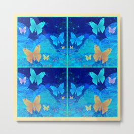 Classy Butterfly Origami Window Print Metal Print