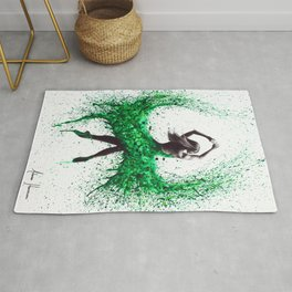 An Emerald Love Rug